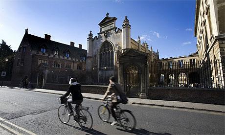 Cambridge University Students Cycling